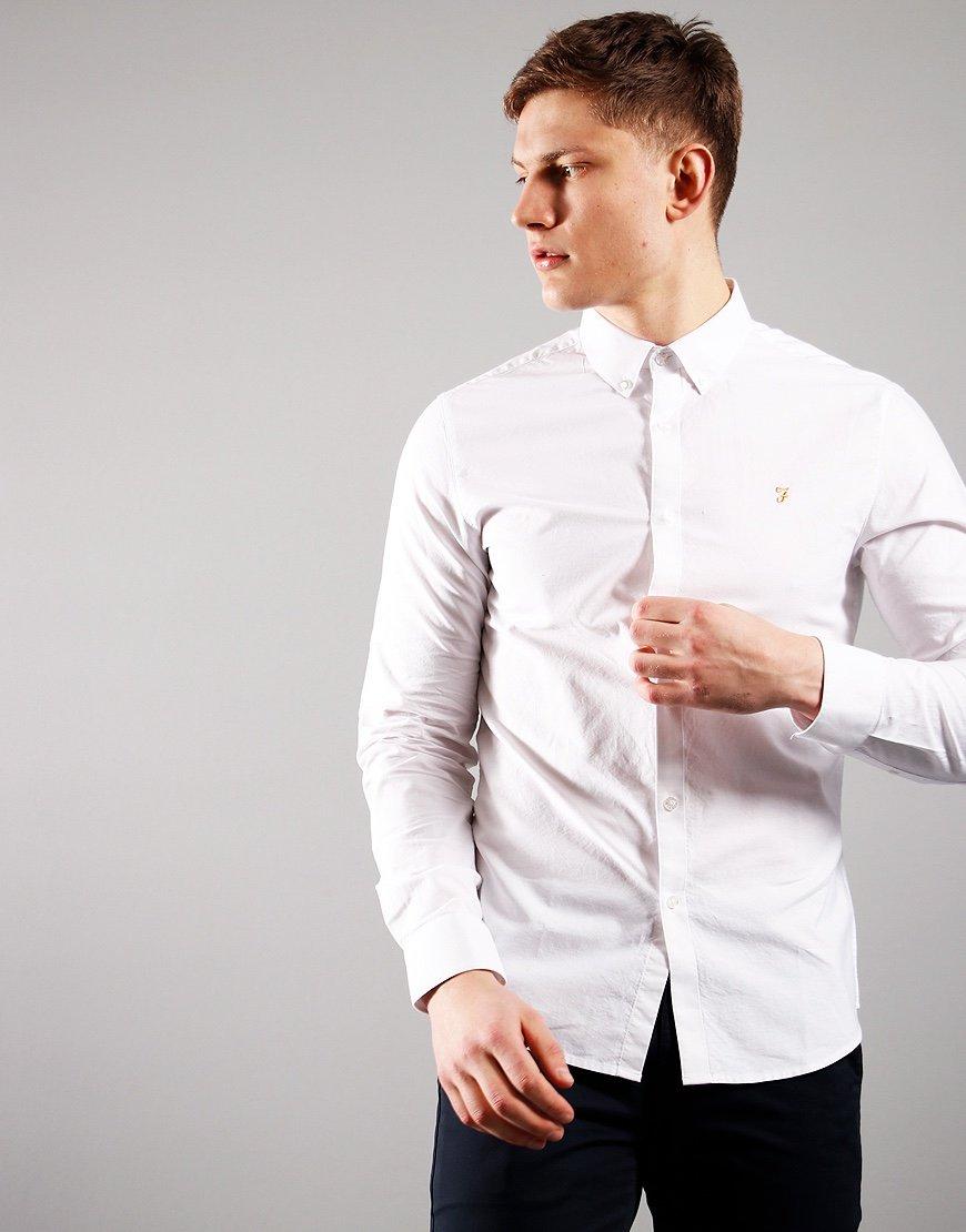 Farah Brewer Long Sleeve Shirt White