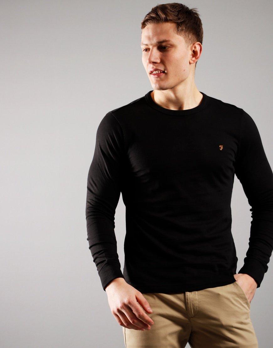 Farah Worthington Long Sleeve T-Shirt Black