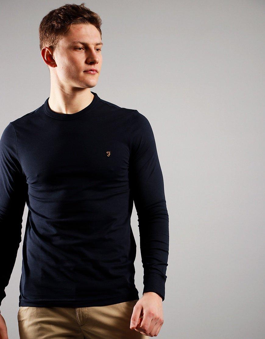 Farah Worthington Long Sleeve T-Shirt True Navy