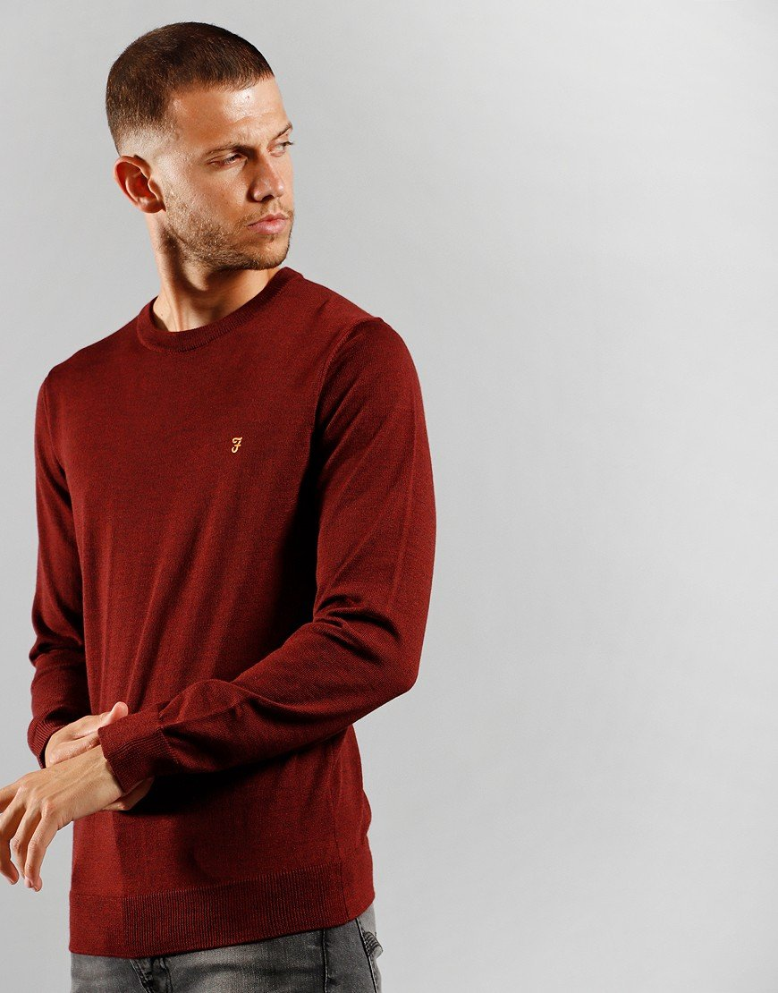Farah Mullen Cotton Knit Burgundy