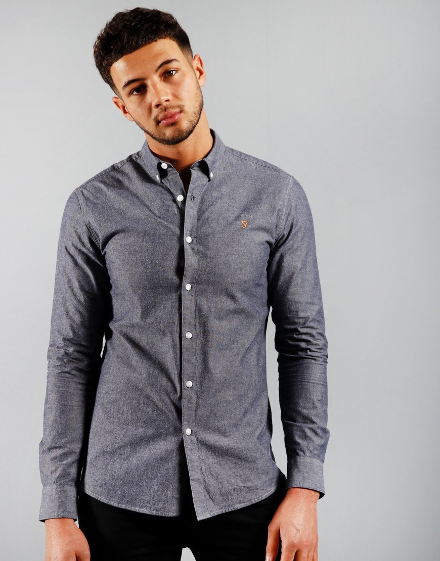 Farah Pasadena Long Sleeve Shirt Chambray
