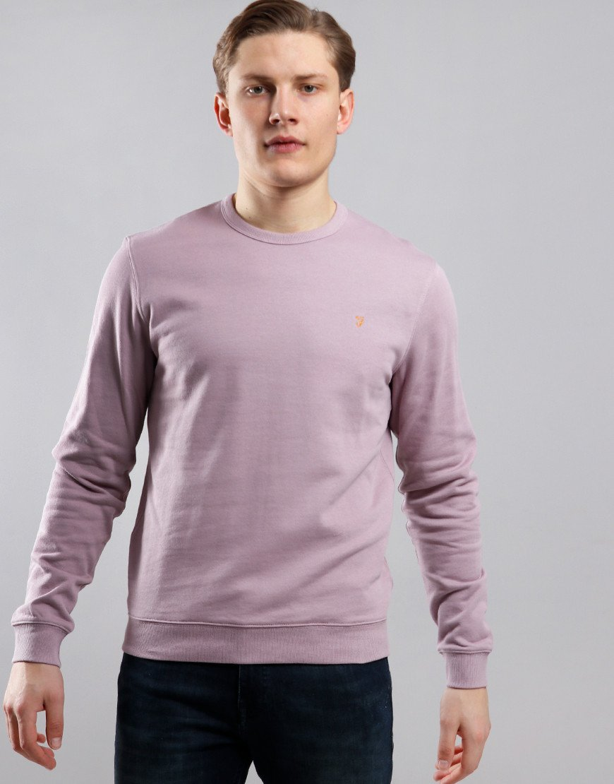 Farah Pickwell Garment Dyed Sweat Wisteria