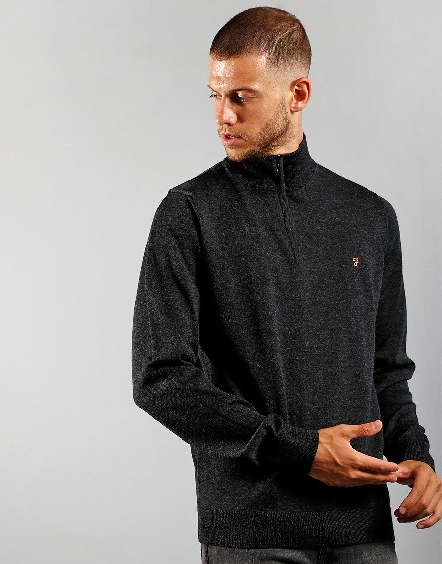 Farah Redchurch Cotton Sweatshirt Charcoal