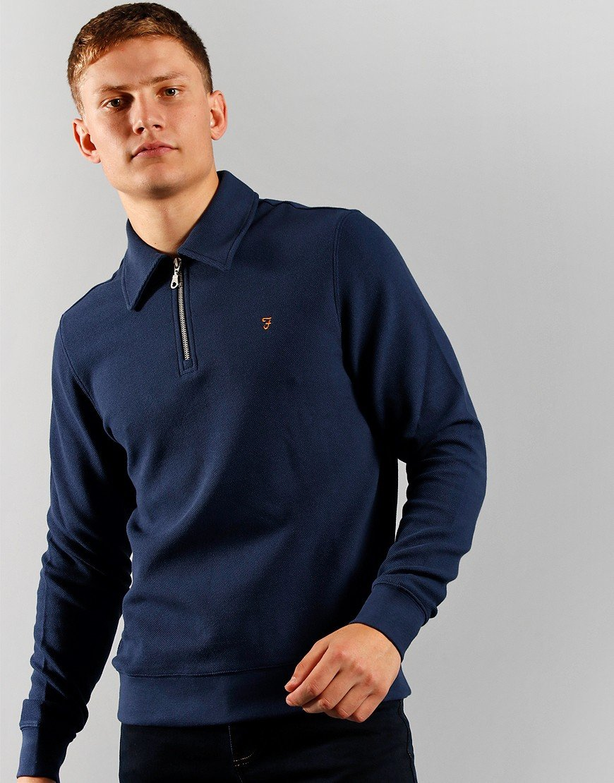 Farah Spon Half Zip Sweat Yale