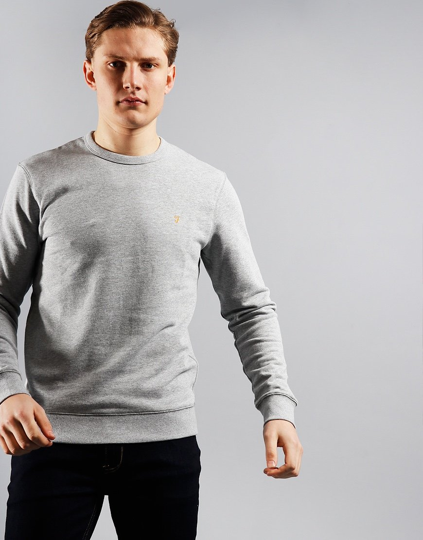 Farah Tim Crew Sweat Light Grey