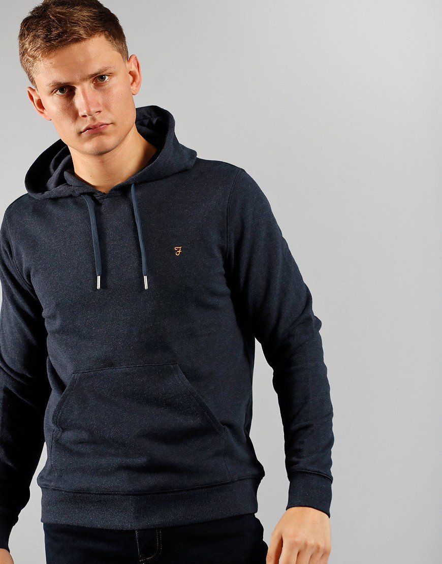 Farah Zain Hooded Sweat True Navy Marl