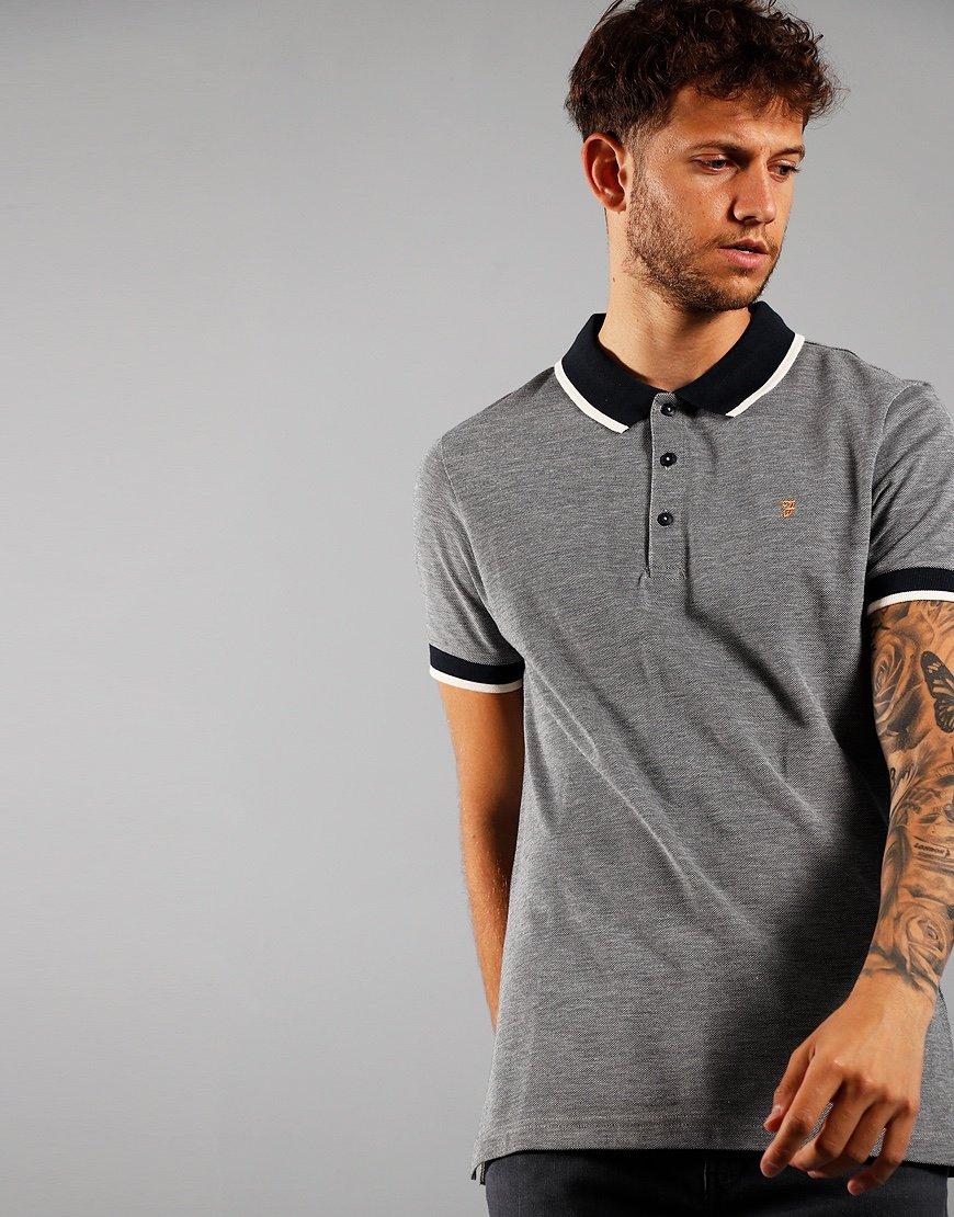Farah Short Sleeve Basil Polo Shirt True Navy