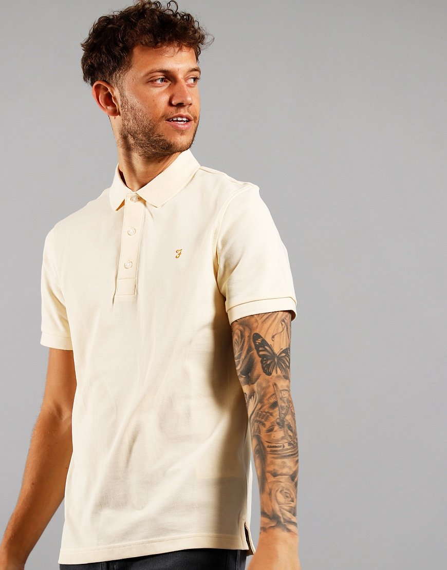 Farah Blanes Polo Shirt Yellow