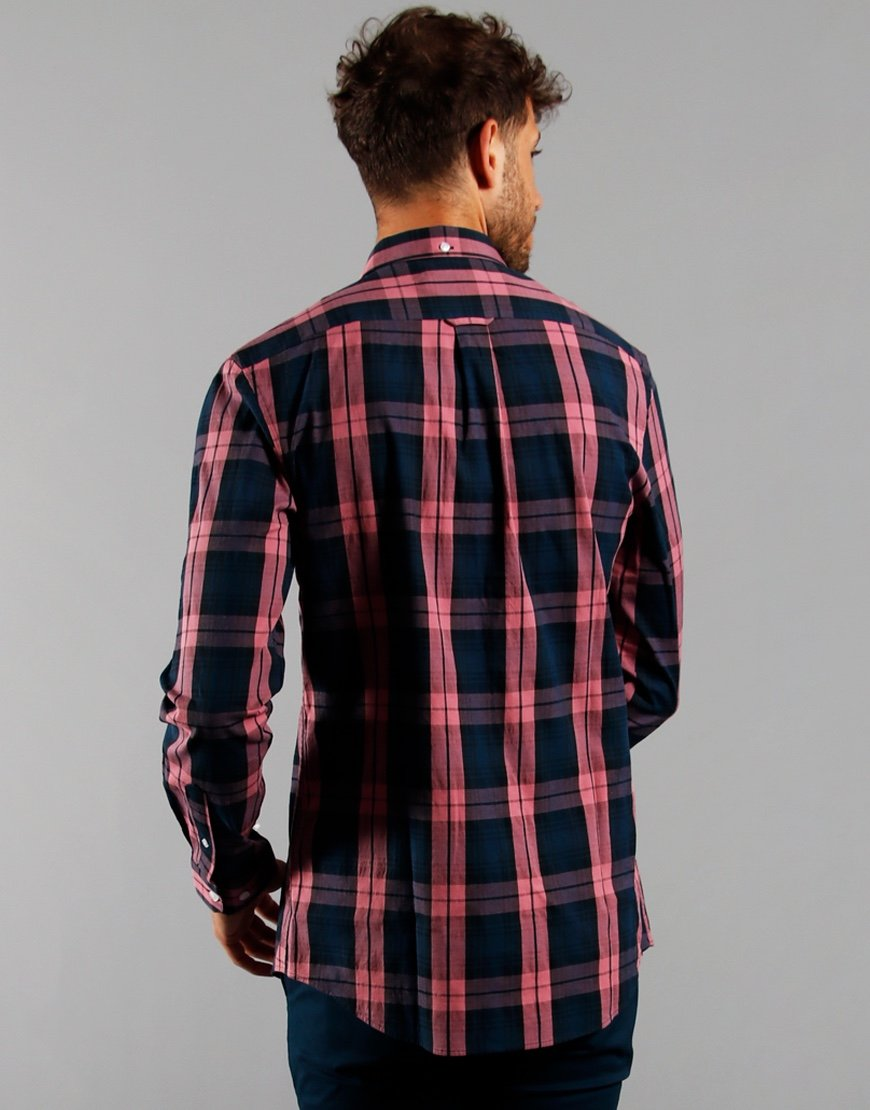 Farah Long Sleeve Brewer Tartan Shirt Dusty Rose
