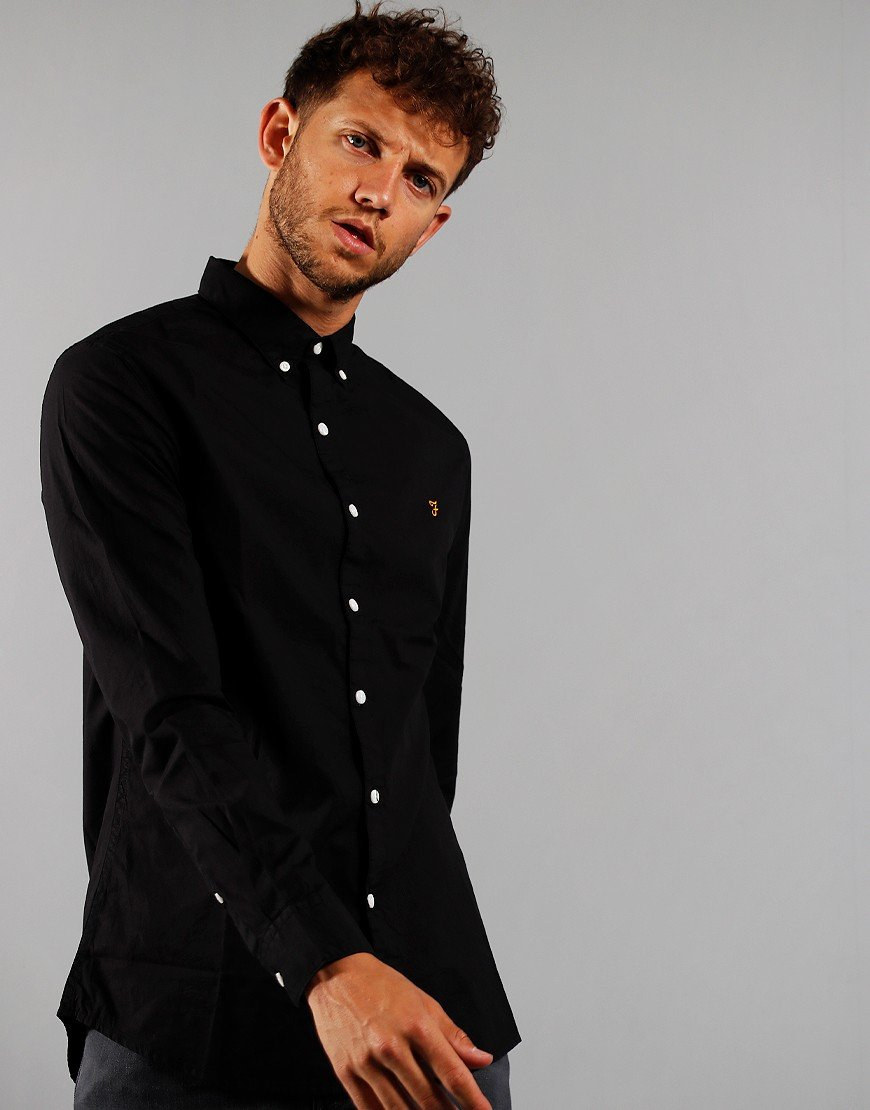 Farah Long Sleeve Farley Shirt Black