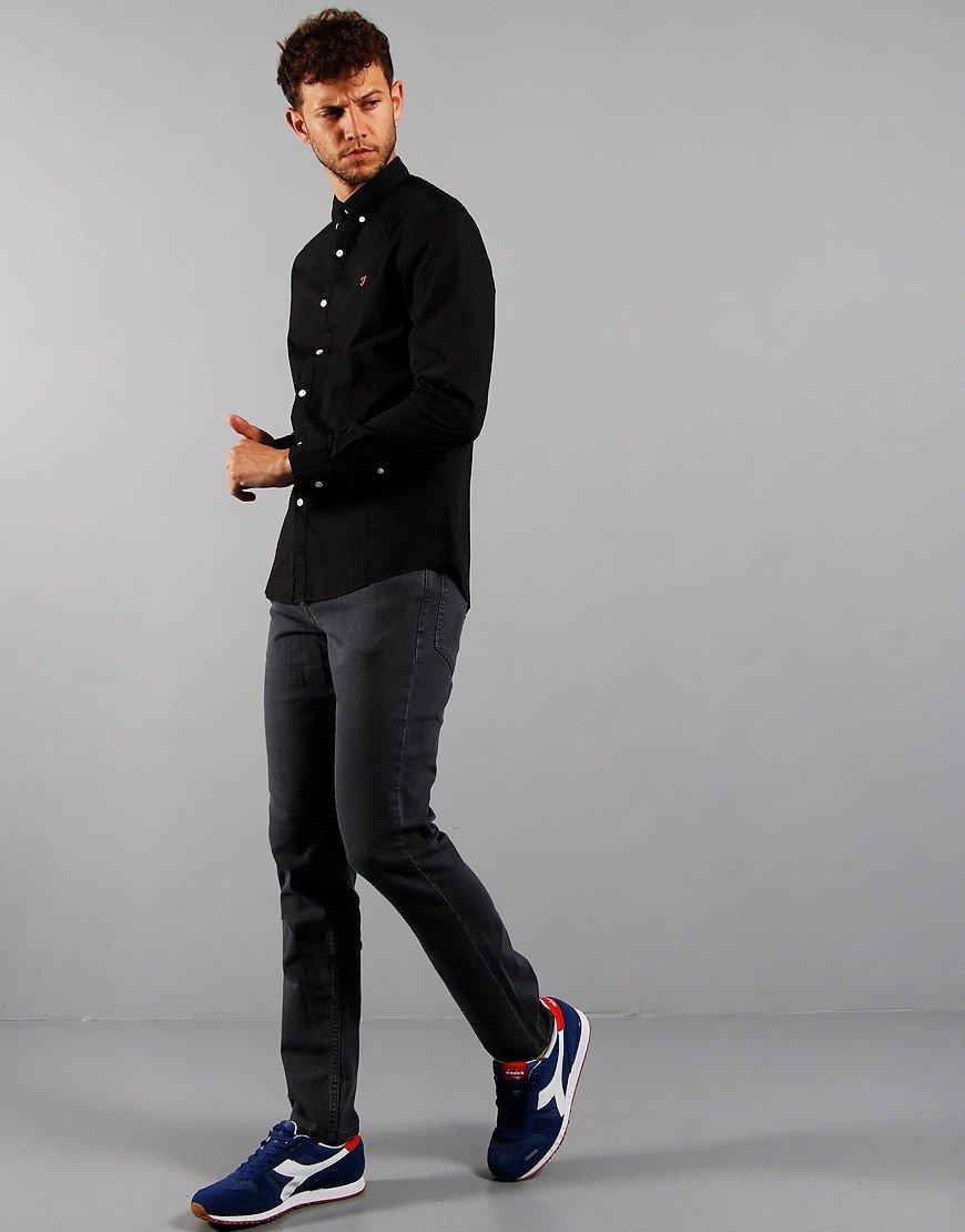 Farah Long Sleeve Farley Shirt Black