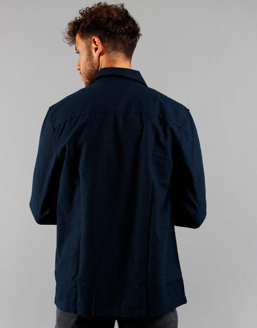 Farah Long Sleeve Frio Canvas Shirt Yale Blue