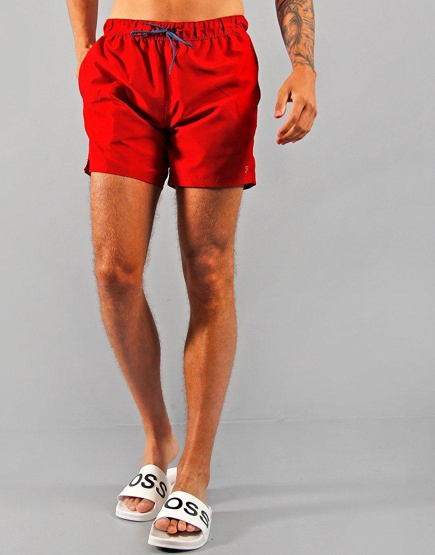 Farah Colbert Swim Shorts Red Chilli