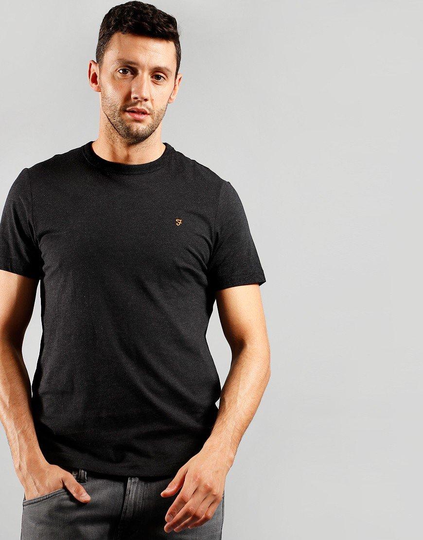 Farah Danny Short Sleeve T-Shirt Black Marl