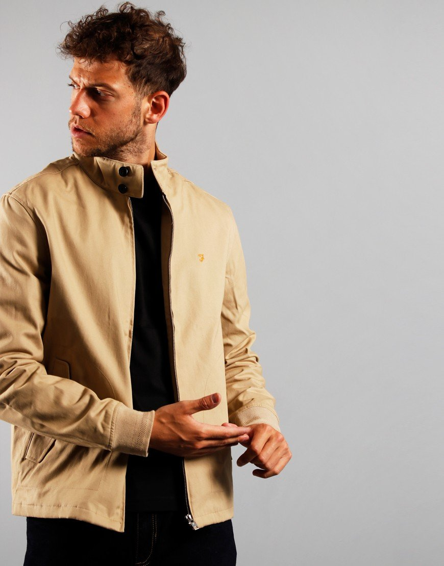 Farah Hardy Harrington Jacket Light Sand
