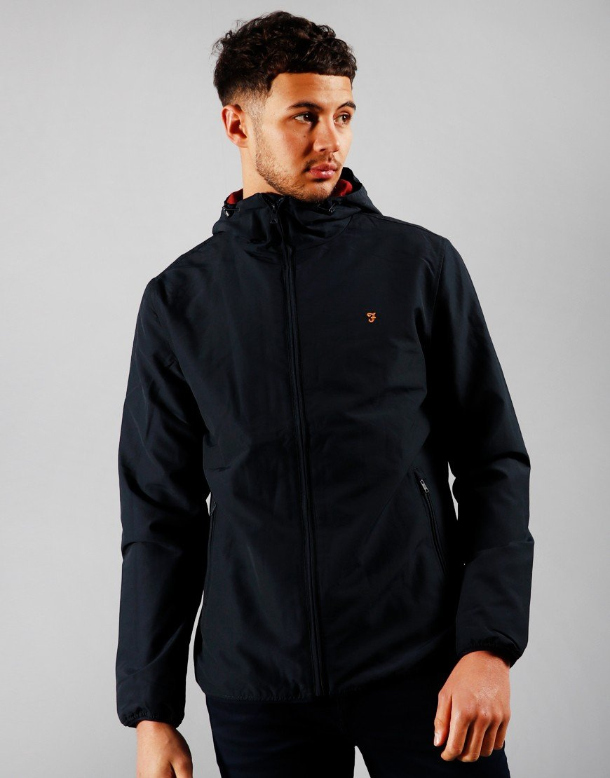 Farah Strode Hooded Jacket True Navy