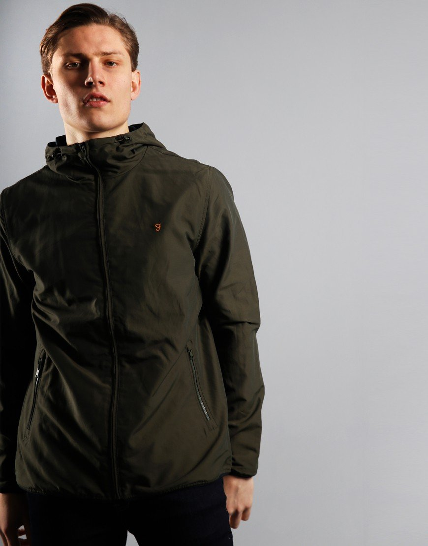 Farah Strode Hooded Jacket Moss