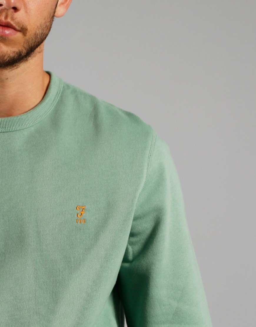 Farah Tim 100 Sweatshirt Jade Green