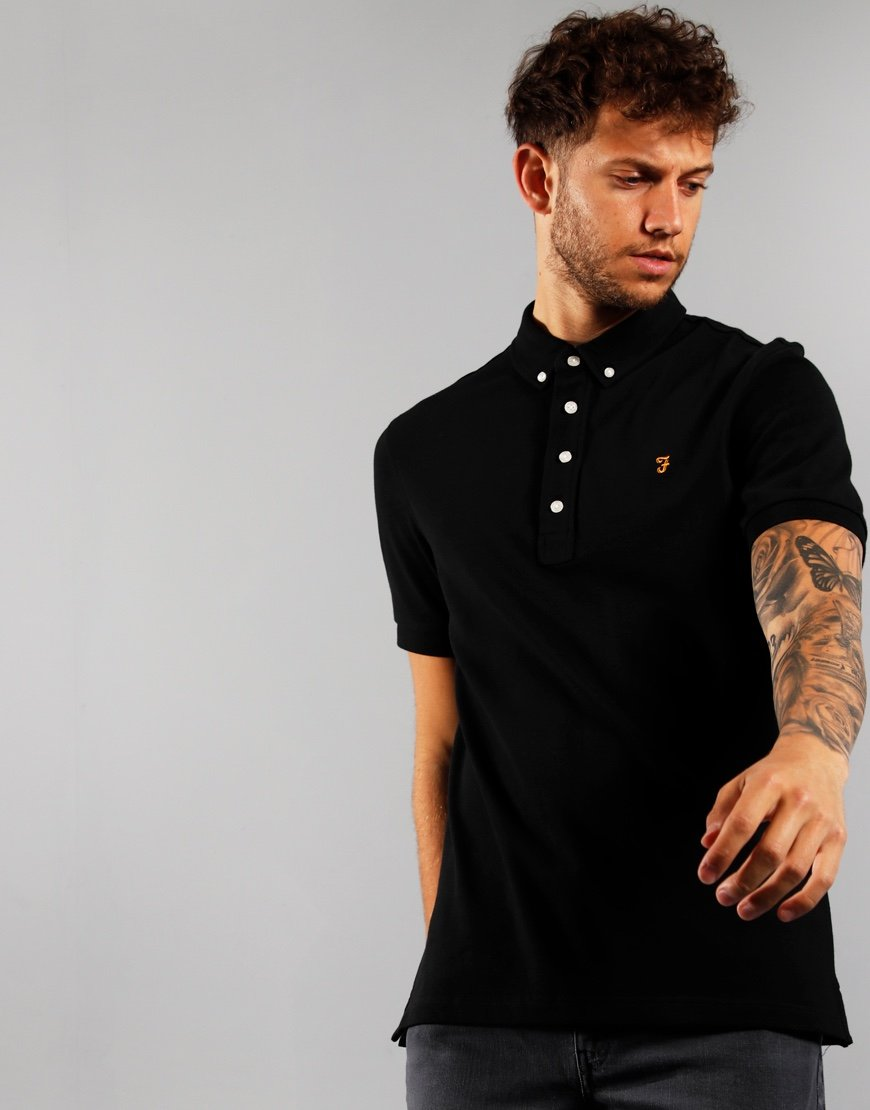 Farah Ricky Polo Shirt Deep Black