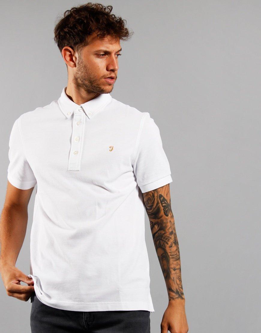 Farah Ricky Polo Shirt White