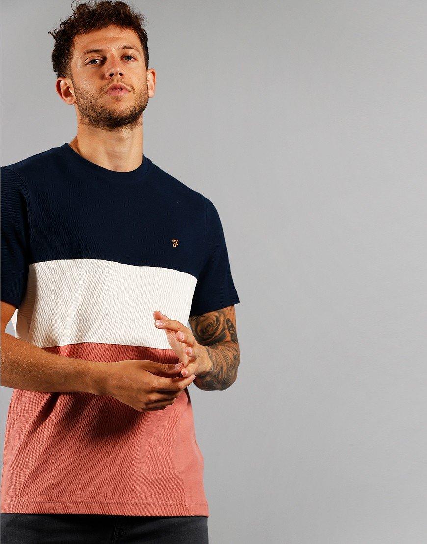 Farah Wharton T-Shirt Varsity Pink