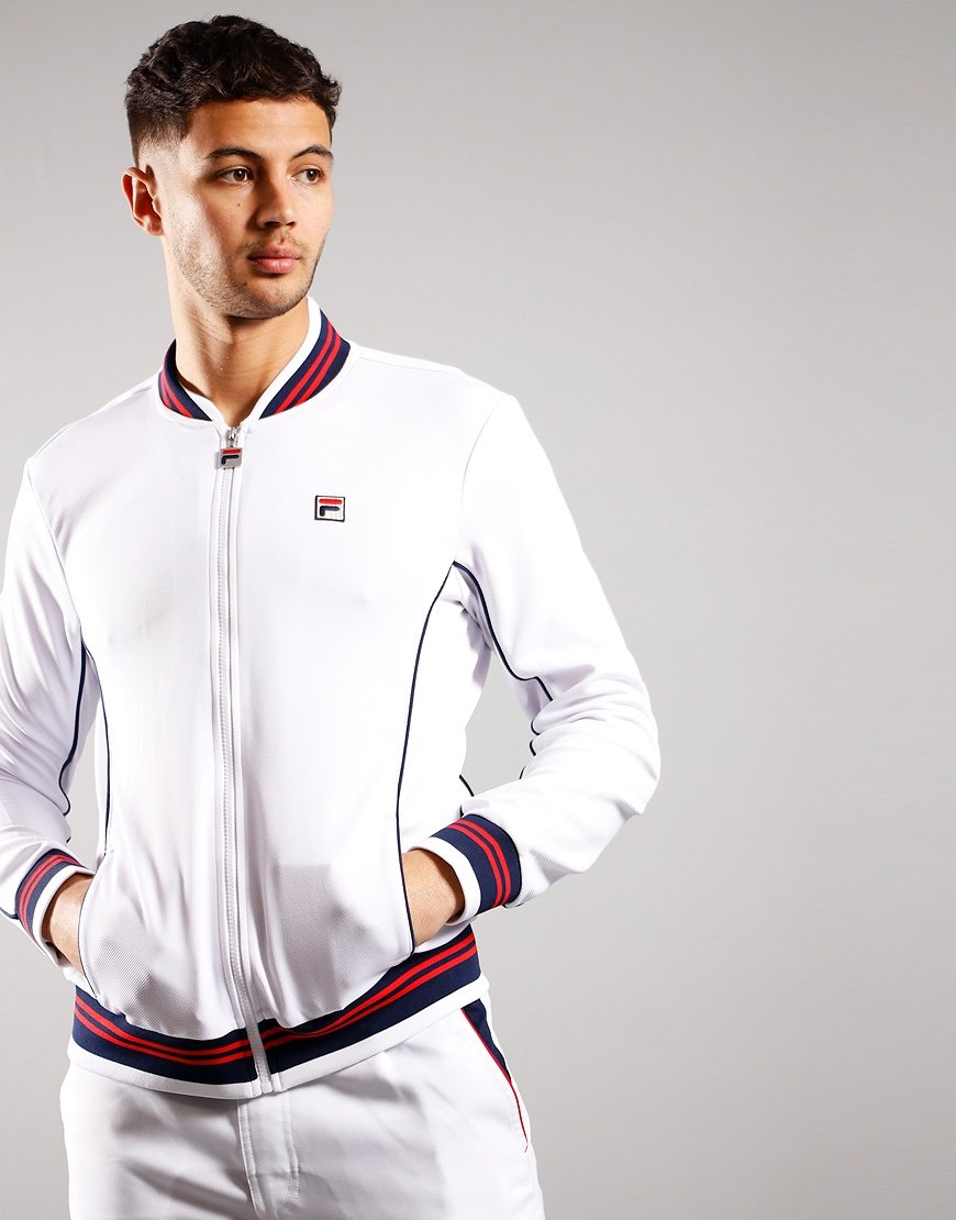 Fila Vintage Baranci Tracktop White/Peacot/High Risk Red