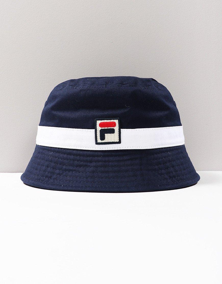 Fila Vintage Basil Bucket Hat Peacoat