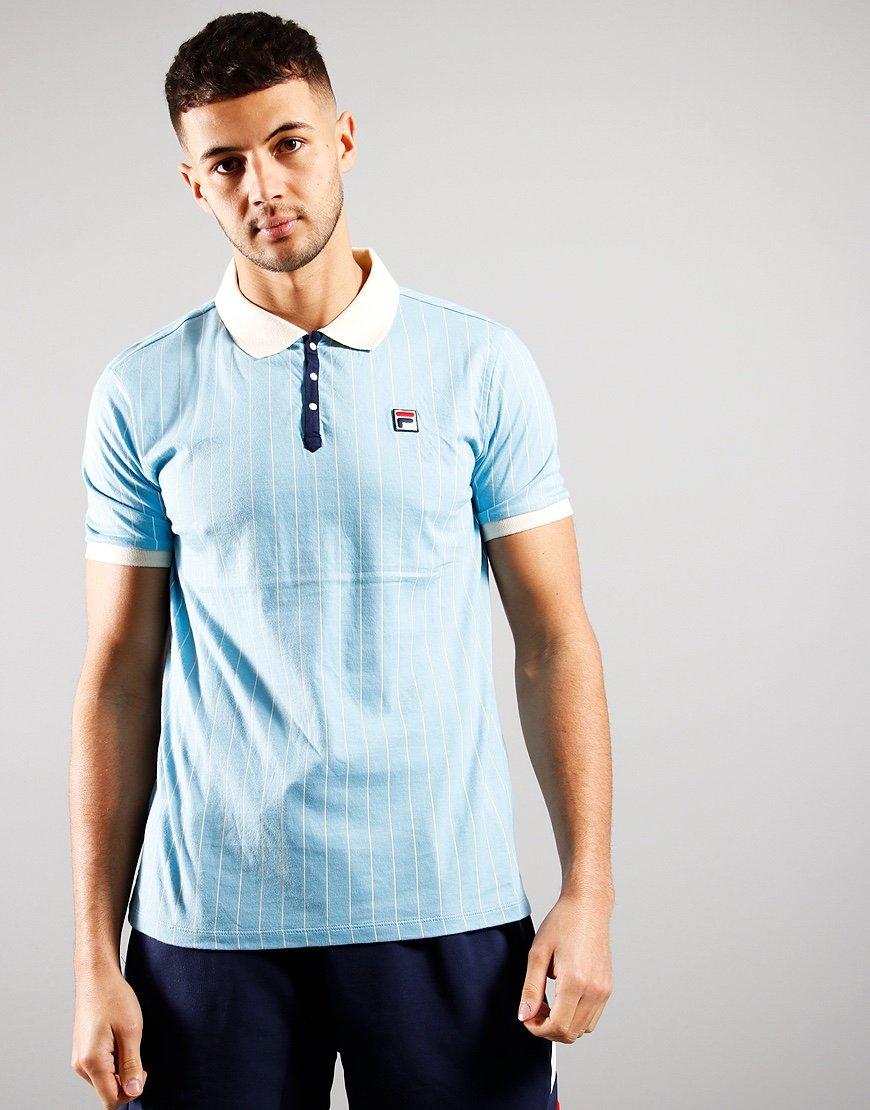 FILA Vintage BB1 Polo Shirt Air Blue