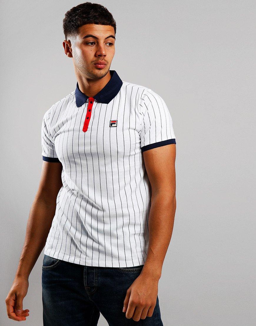 Fila Vintage BB1 Polo Shirt White