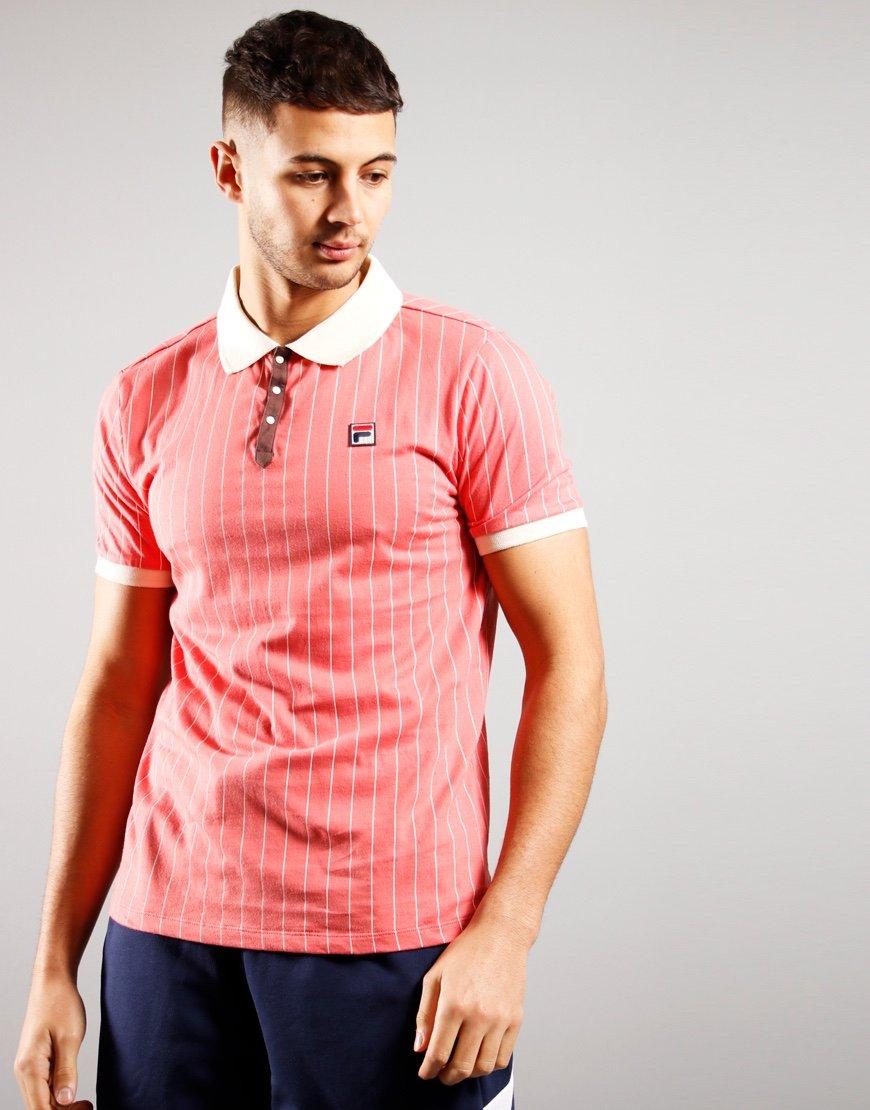 FILA Vintage BB1 Polo Shirt Tearose