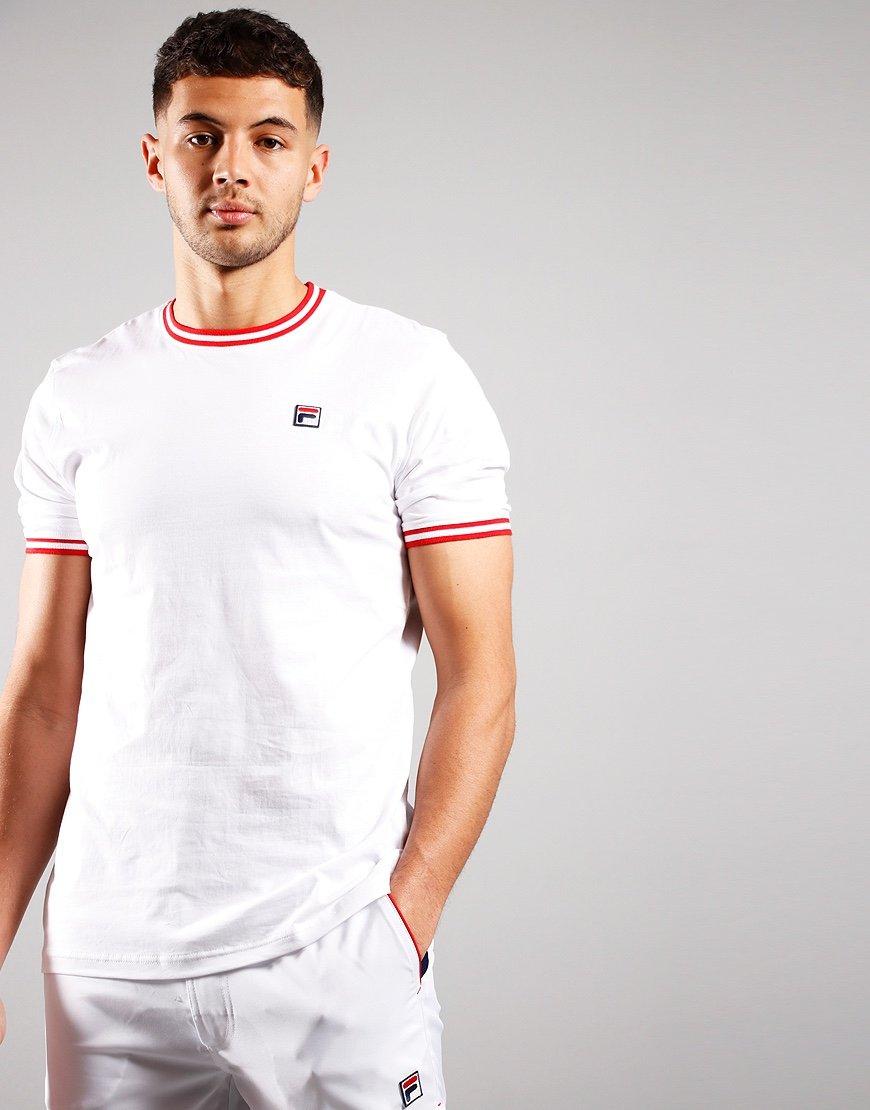 Fila Vintage Flank T-Shirt White/High Risk Red