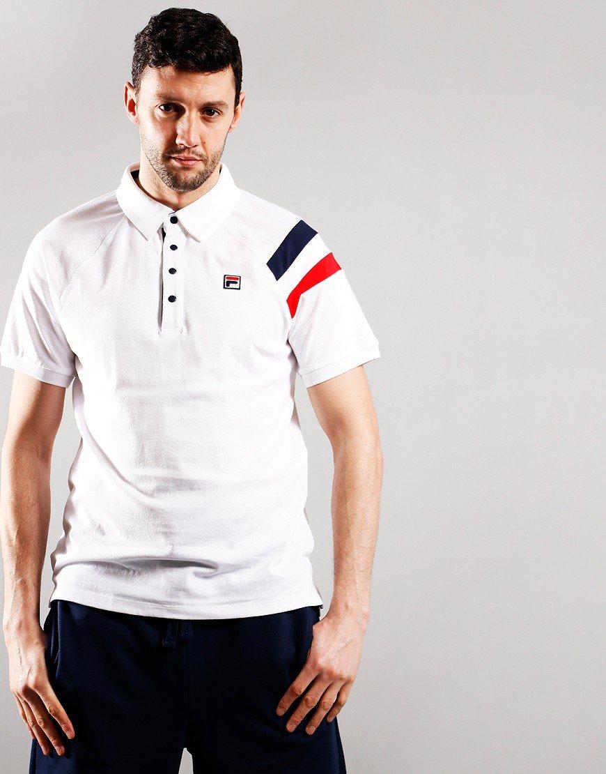 Fila Vintage Gabriel Polo Shirt White