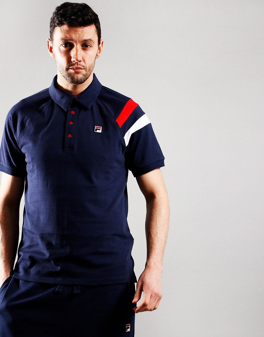 Fila Vintage Gabriel Polo Shirt Peacoat