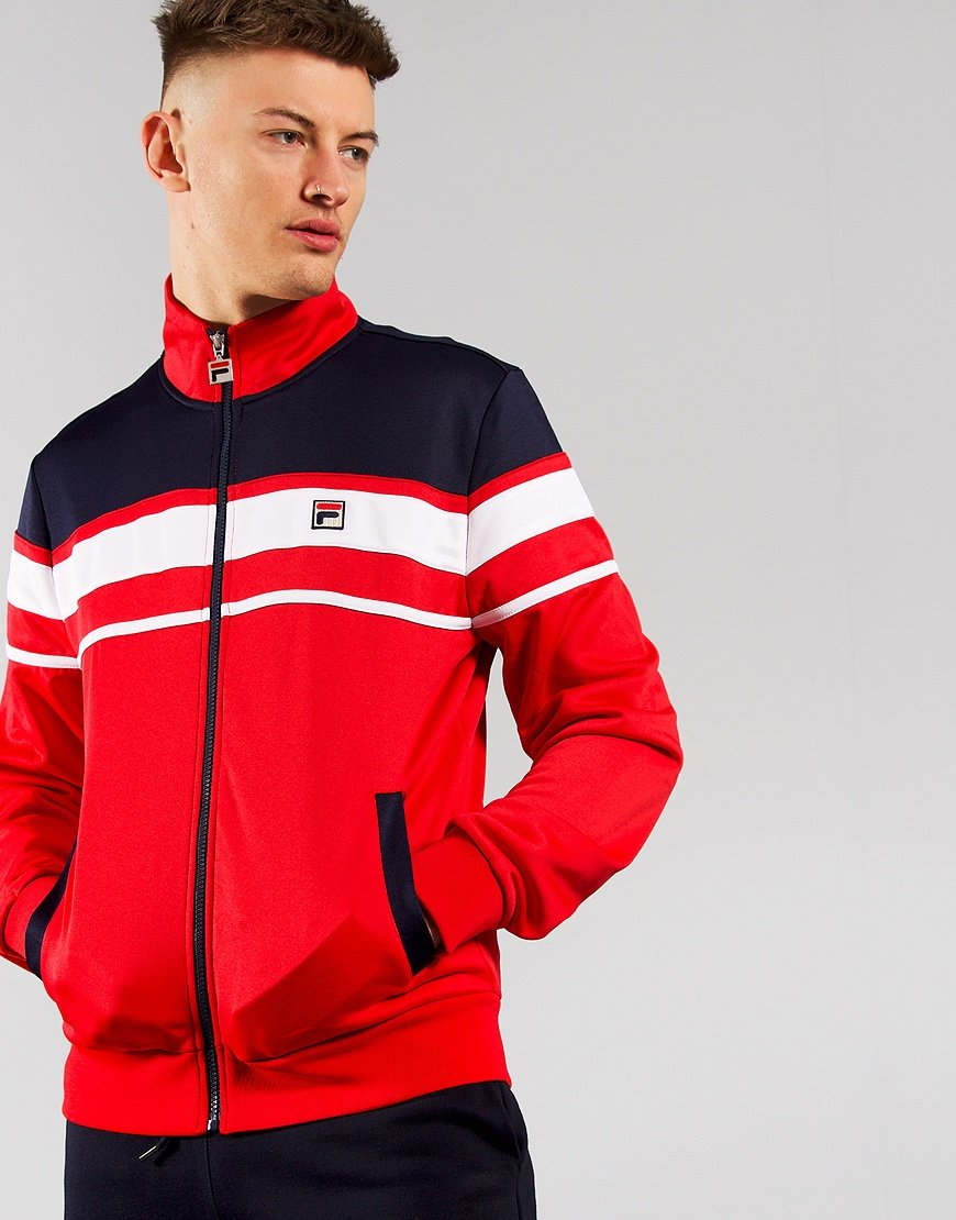 Fila Vintage Gordon Track Top Chinese Red/Peacoat/White