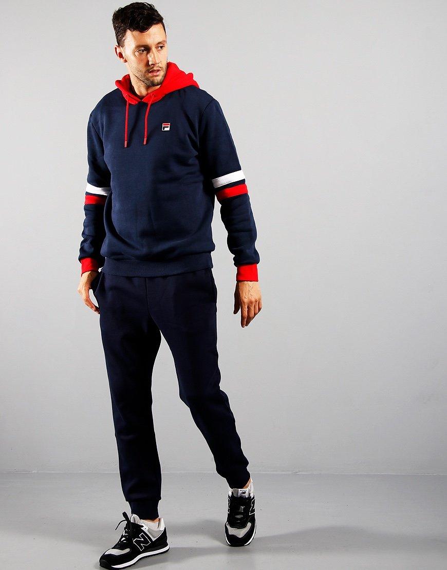 Fila Hurley Hooded Sweatshirt Peacoat