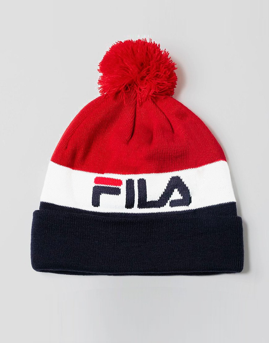Fila Vintage Kato Knitted Hat Chinese Red