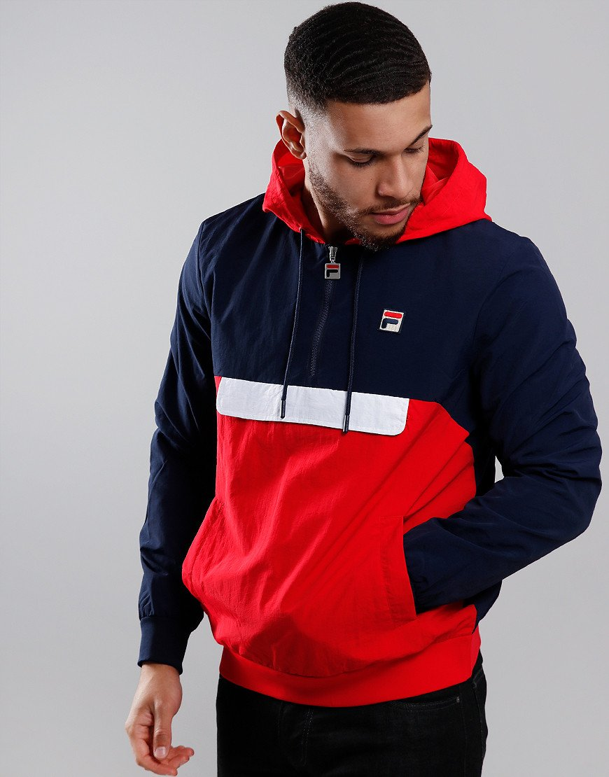 Fila Vintage Macker 2 Jacket Peacoat/Chinese Red/White
