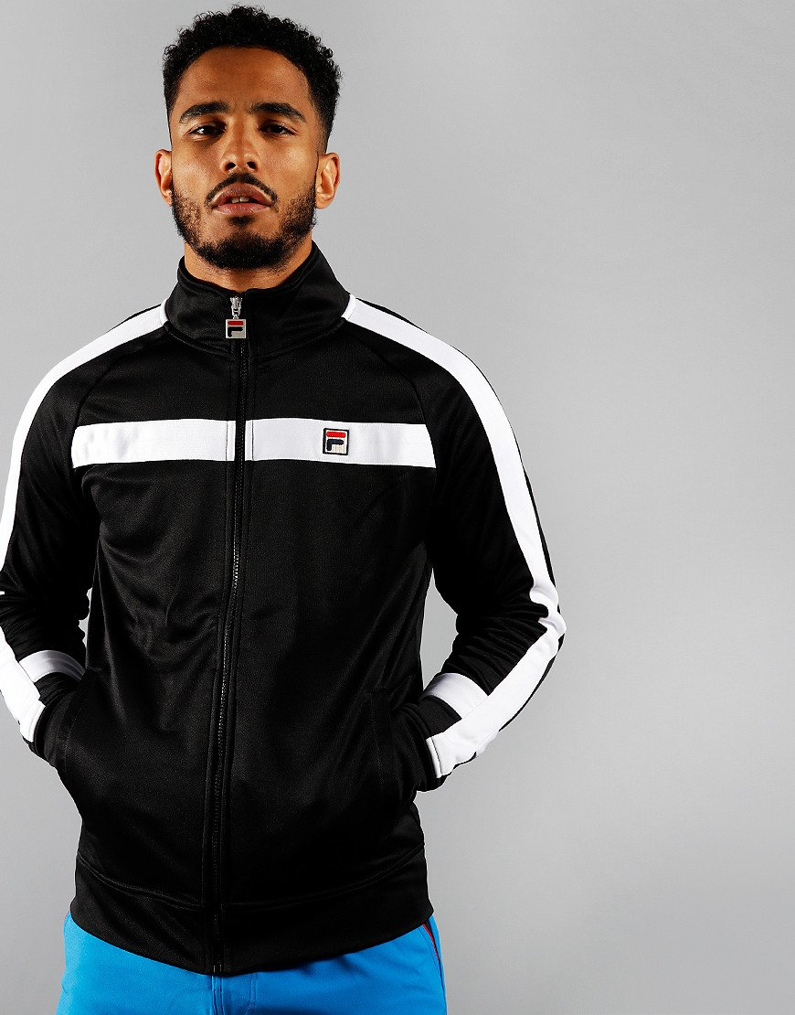 Fila Vintage Renzo Track Top Black/White