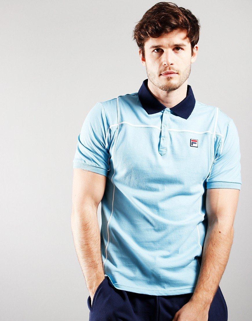 FILA Vintage Terrinda Polo Shirt Air Blue