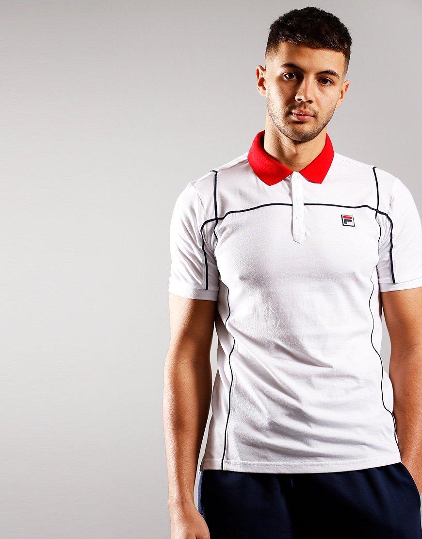 FILA Vintage Terrinda Polo Shirt White