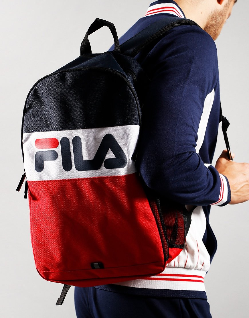 Fila Vintage Rodney Backpack Peacoat/Cred/White