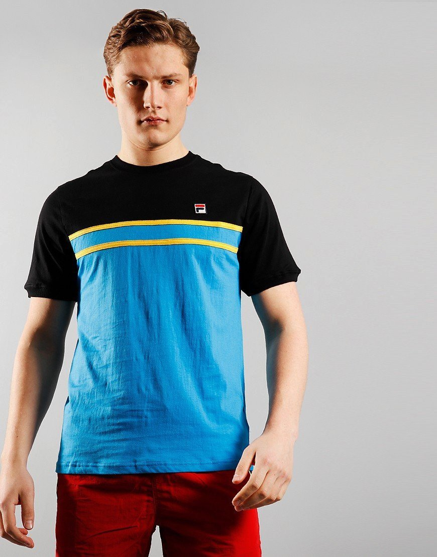 FILA Vintage Baldi T-Shirt Blue Aster/Black/Freesia