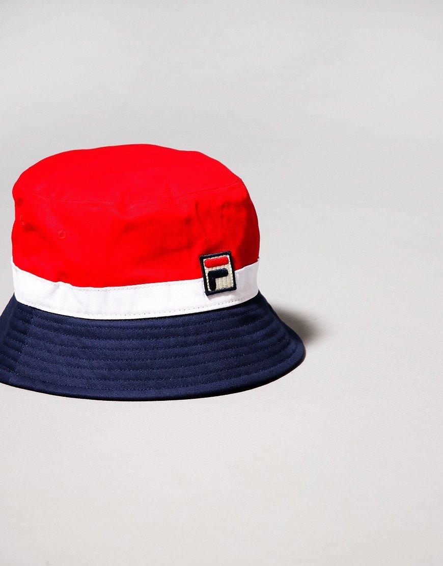 Fila Vintage Basil Bucket Hat Chinese Red/Peacoat