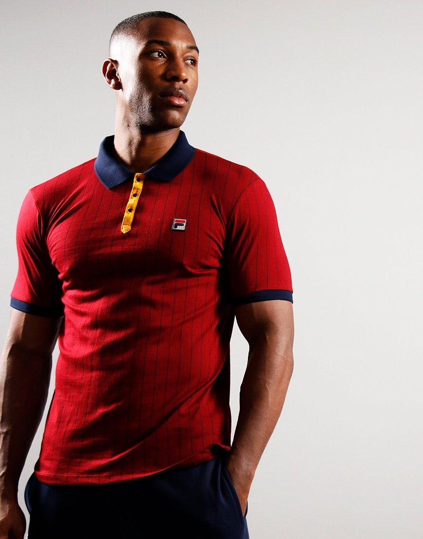 FILA Vintage BB1 Polo Shirt Rhubarb