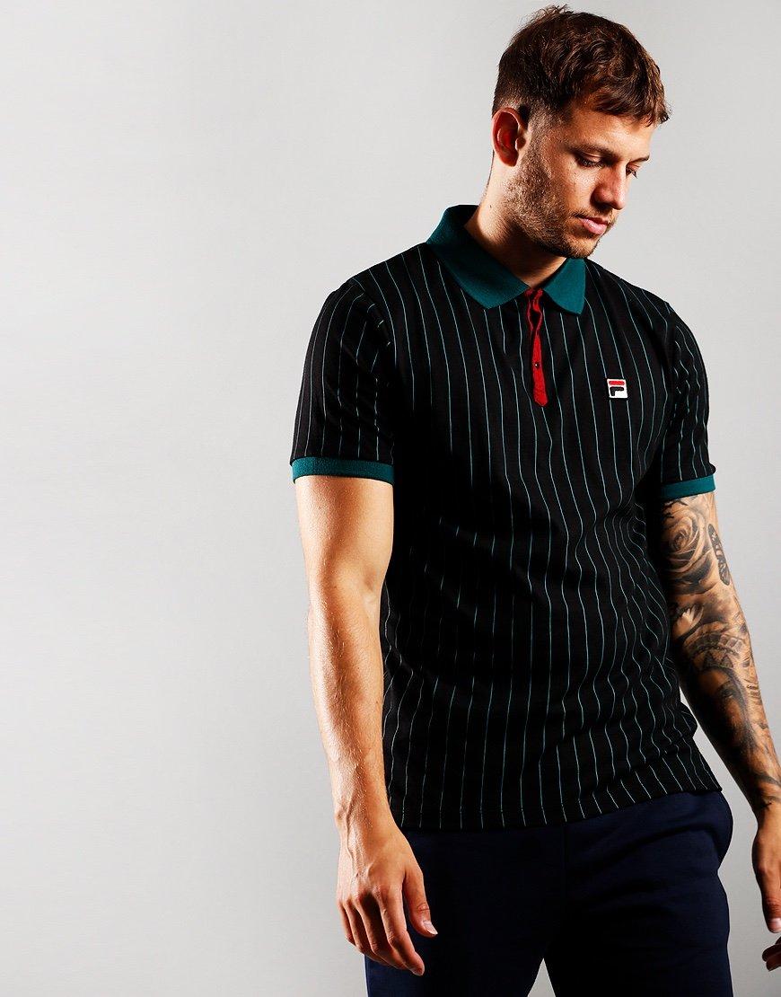 Fila Vintage BB1 Polo Shirt June Bug/Black/Rhubarb