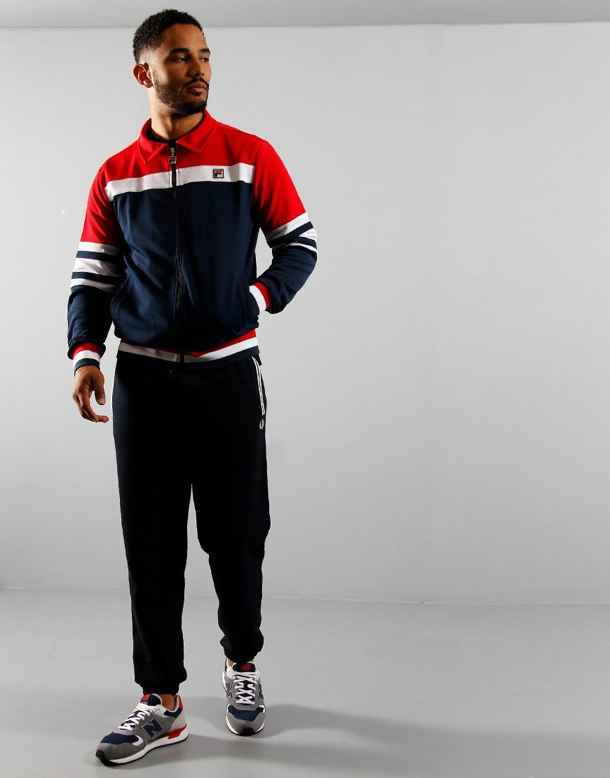 FILA Vintage Courto 2 Track Top Chinese Red