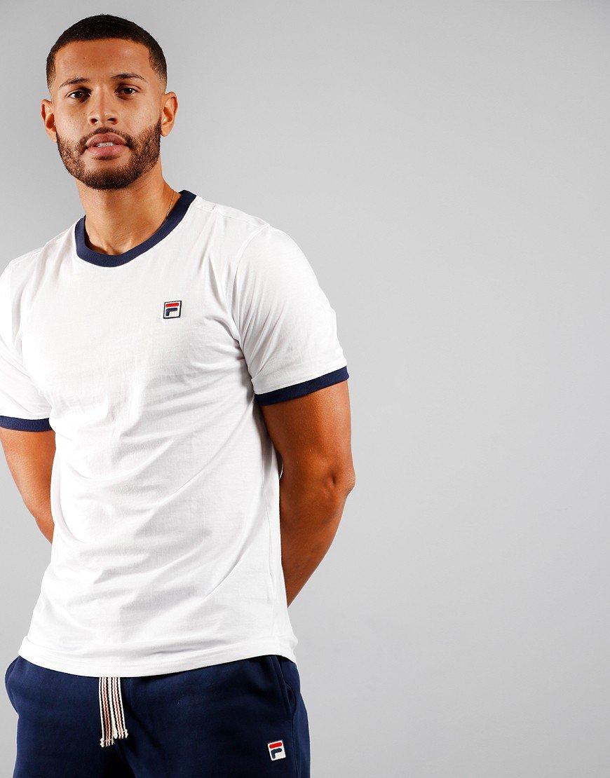 FILA Vintage Marconi T-Shirt White / Peacoat