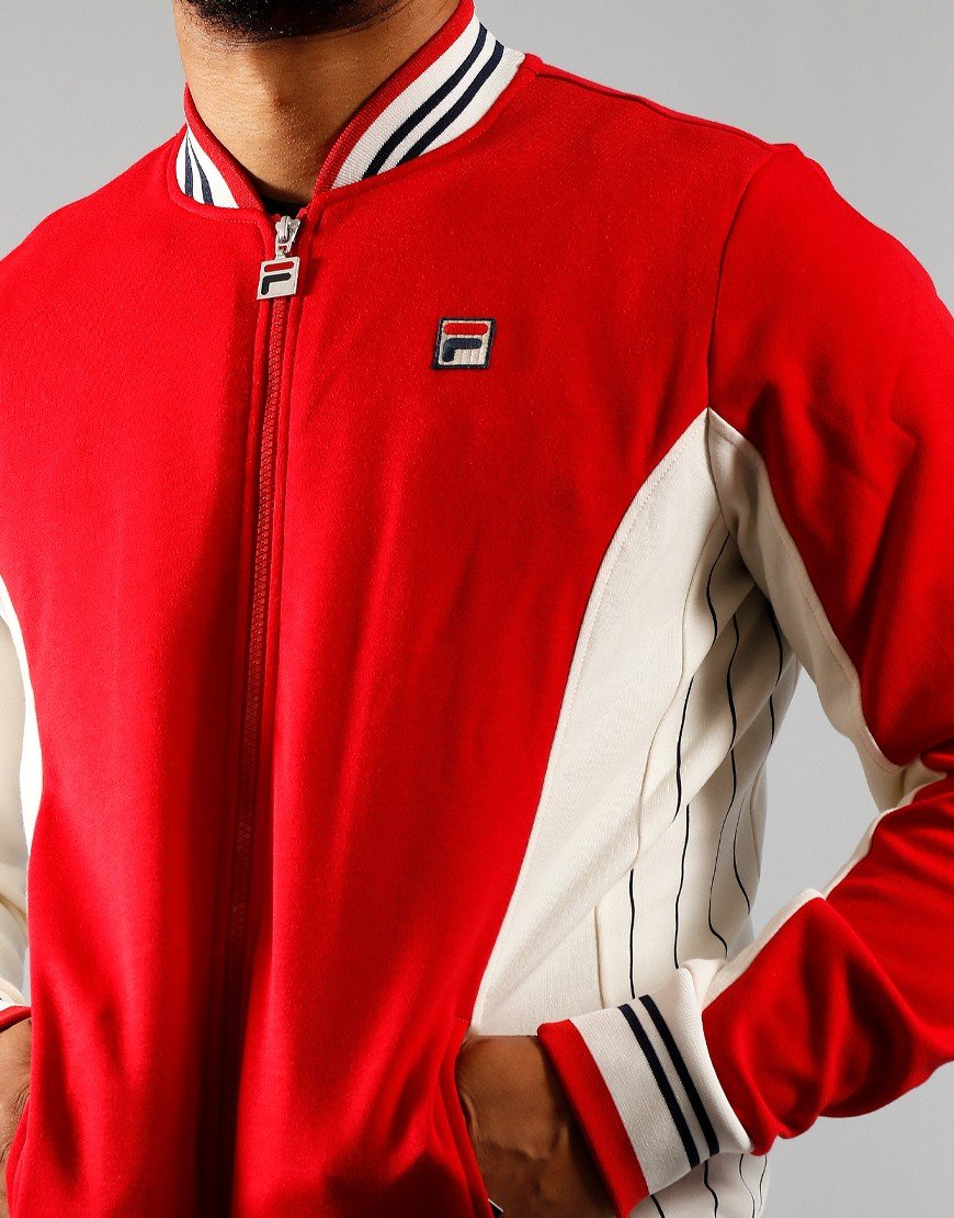 FILA Vintage Settanta Track Top Chinese Red/Turtledove/White