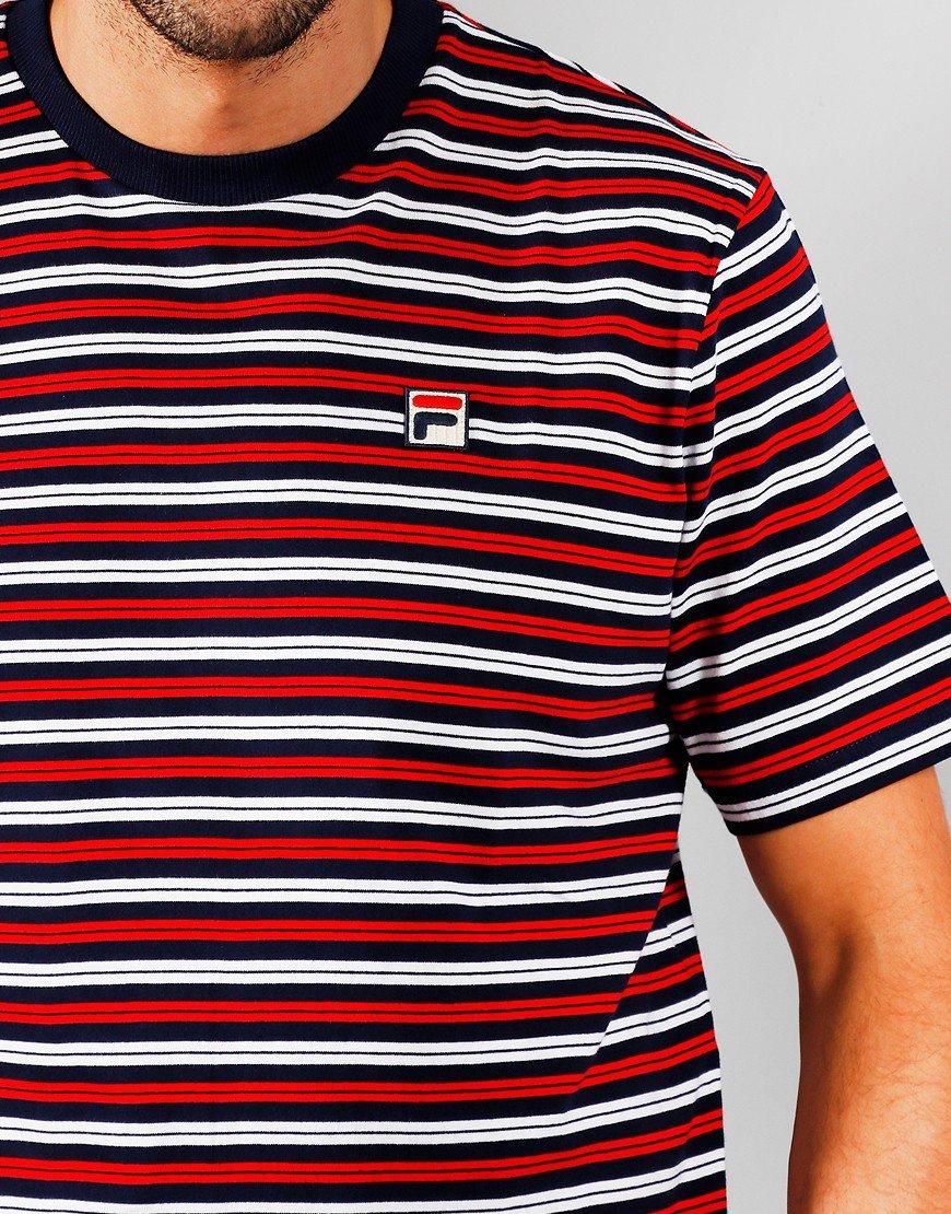 FILA Vintage Hugh T-Shirt Peacoat/White/Chinese Red