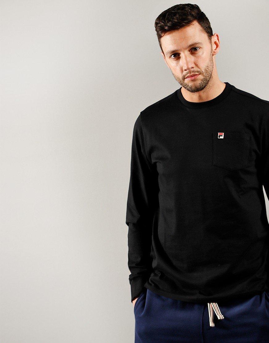 FILA Vintage Thames Long Sleeve T-Shirt Black